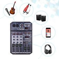 4 Kanal Mixer Live Studio Audio Mischpult Konsole 16 DSP 48V Phantomspeisung