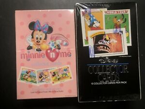 1 Disney Collector Cards 1991 Impel & 1 Minnie N Me Factory Sealed-Case Fresh 🙂