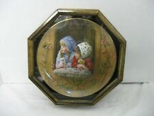 Sunday Best Days Gone By Collector Plate Sandra Kuck Reco Octagon Wood Frame