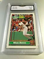 WADE BOGGS ALL STAR (HOF) 1992 Topps #399 GMA Graded 10 Gem Mint