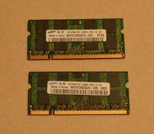 2 x 1 GB di memoria Samsung ddr2 667 pc2 5300s 555 SODIMM RAM NOTEBOOK