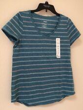 New w/Tag (M) Women's Sonoma Light Blue Striped T-Shirt Size Medium