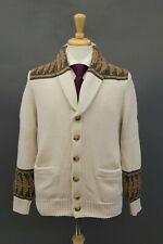 NWT$1545 Brunello Cucinelli Men Chunky Knit Cardigan W/Logo Stamped Buttons A196
