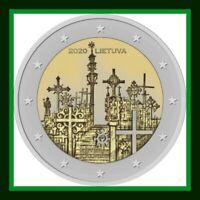 2020 Litauen Lithuania-2-Euro-Coin Hill-of-Crosses ,MünzeHügel der Kreuze UNZ  S