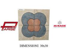 Rosone decoro Mirage ceramica mosaico su rete prima scelta levigato 30x30 B662