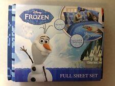 Brand New Disney Frozen Olaf Microfiber Full Size Sheet Set 4 Pieces