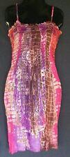 Women's Sundress Tie Dye Mini L/XL Hippie Casual Summer Beach Cover Up Dress