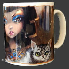 *SANURA* Egyptian Cat Princess Art Ceramic Coffee Mug By Jasmine Becket-Griffith