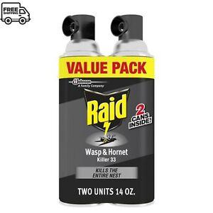 Raid Wasp & Hornet Insect Killer 33, 14 oz, 2 ct