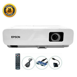 Epson PowerLite 825 3LCD Projector 3000 ANSI HD 1080i HDMI-adapter w/Remote