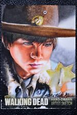 Walking Dead Season 3 Carl Grimes Sketch Art by Mick & Matt Glebe Trading Card