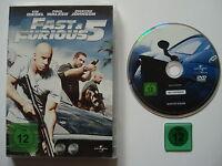⭐⭐ FAST & FURIOUS 5 ⭐ DVD ⭐ Vin Diesel ⭐ Paul Walker ⭐ Dwayne Johnson ⭐ FSK 12