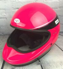 Vintage Polaris by Bell Indy Snowmobile Motorcycle Helmet Sz Large Hot Pink