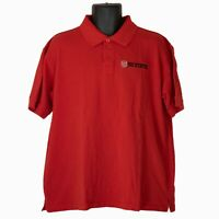 Mens Cadre NC State Wolfpack Red Short Sleeve Polo Shirt Size XL