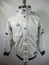 E9195 VTG 90s KAPPA Retro Hip-Hop Hooded Warm-Up Stadium Parka Jacket Size M