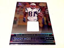 Randy Moss 2007 Donruss Gridiron Gear X Game Worn Jersey #/160 NE Patriots