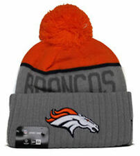 New Era® Adult Denver Broncos Cuffed Gray Sport Knit Pom Top Beanie Hat