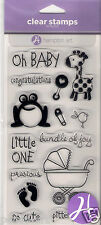 Hampton Art 14 clear rubber stamps Baby Child Toddler Congratulations Babies