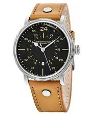 Stuhrling 656 03 Zeppelin Aviator Quartz Date Beige Leather Strap Mens Watch