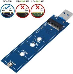 Adattatore USB 3.0 per schede di memoria M.2 SSD NGFF SATA, Super Velocità 5Gbps