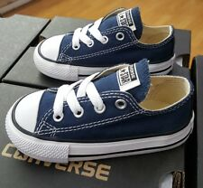 CONVERSE ALL STAR CHUCK TAYLOR LOW 7J237  NAVY TODDLER US SZ 7