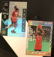 JAMES HARDEN LOT(2) 2019-20 Illusions #11 Emerald Green Clear Shots & #35 Base