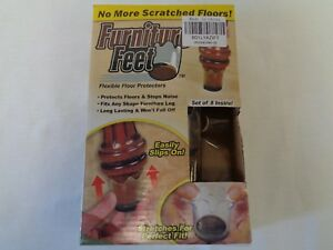 Ferryman Furniture Feet Flexible Floor Protectors 8pc Pack (D5-305)
