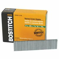 Bostitch SX50351-1/4G 1-1/4-in Leg 18-Gauge 7/32-in Narrow Crown Finish Staples