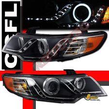 Angel Eye CCFL Halo R8 LED Black Projector Headlights For 10-13 Kia Forte Koup