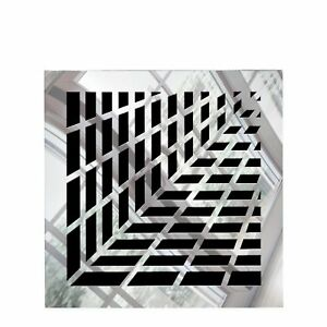 Vivian Square Vent Cover - Silver Mirror Collection
