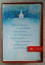 "18 Count Hallmark Box Christmas Cards/Envelopes - "".a Season of Blessings."""