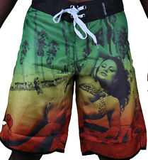 T.I.T.S. Two In The Shirt Hot Girl Beach Jamaica Swim Surf Board Shorts Size: 28
