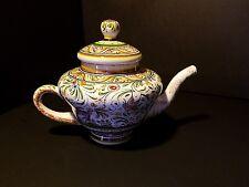 Ceramicas De Coimbra Portugal ~ Hand Painted SEC XVII Teapot~Signed Teresa~ #689