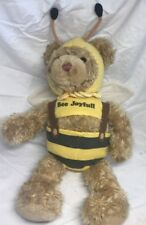 "HTF Gund 15"" Bee Joyful Bear Plush, Gund Bear In Bee Costume RARE"