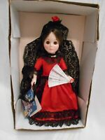 "Vintage Miss Spain Doll by Effanbee 12"" New in Box. Old Stock 1976"