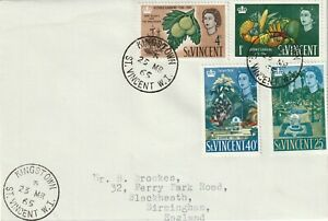1965 St.Vincent FDC cover sent from Kingstown to Birmingham UK