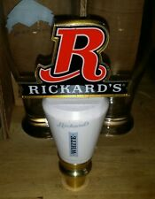 "RICKARD'S WHITE 6.5"" Short Beer Tap Handle RICKARDS BREWING"