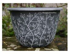 2 X Large 12 Serenity Stout Planter Pots Plastic Garden Patio Flower Plant Pot