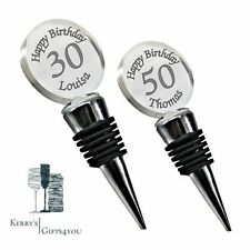 Personalised Bottle Stopper Wine Champagne Engraved Birthday Gift 18th 21st 50th