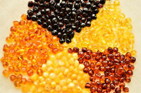 5 COLORS Raw Natural Baltic Amber Loose Polished Beads Boraque 10-20-30 Grams