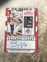 Binjimen Victor 2020 Panini Contenders Draft Picks RC Rookie Auto College Ticket