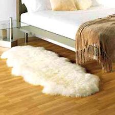 DOUBLE Pelt  GENUINE SHEEPSKIN RUG sheep skin Fur on - WHITE natural hair