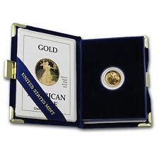 1/10 oz Proof Gold American Eagle (Random Year, w/Box & COA) - SKU #59207