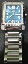 Mens Diamond Aqua Techno Watch W/ SS Band, Round Cut Diamonds 0.50ct, USC#327