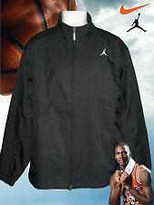 Rare New Nike Mens JORDAN Tracksuit Jacket Black ( two tone pin stripe) M