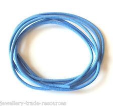 Azul 100% Natural De 2 Mm de cordón de cuero Tanga Hilo Collar & Joyas