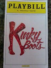 Kinky Boots playbill   Tonys Best Musical edition Billy Porter Stark  Sands