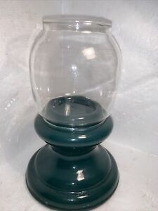 VINTAGE Pottery And Glass Fairy Light Tea Lamp..DATED 77 & Signed