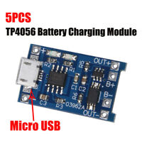 5pcs Micro USB 5V 1A 18650 TP4056 Lithium Battery Charger Module Li-ion