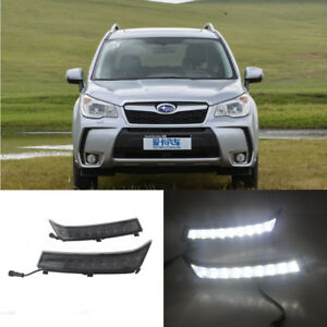 LED Daytime Running Lights DRL Yellow Turn Signals For Subaru Forester 2013-2016
